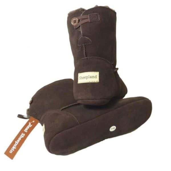Dark Brown Luxury Sheepskin Slipper Boot