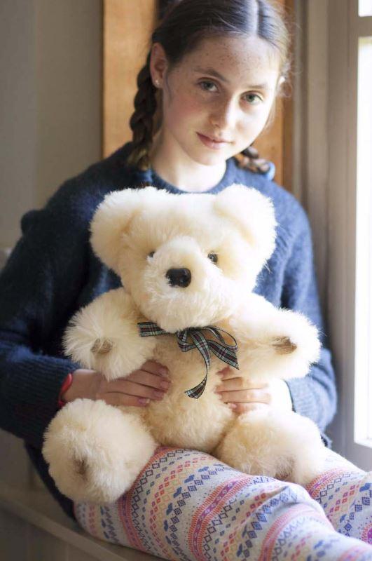 Baby safe Sheepskin Teddy bear. Luxury bear, Handmade in the UK