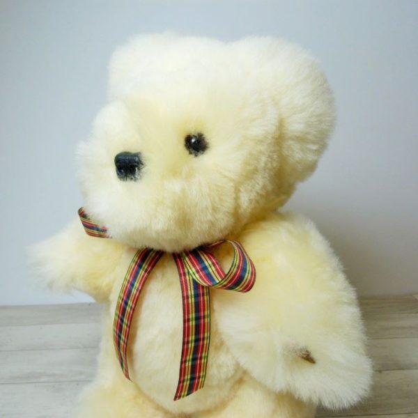 Sheepskin Teddy bears, hand made and super soft.