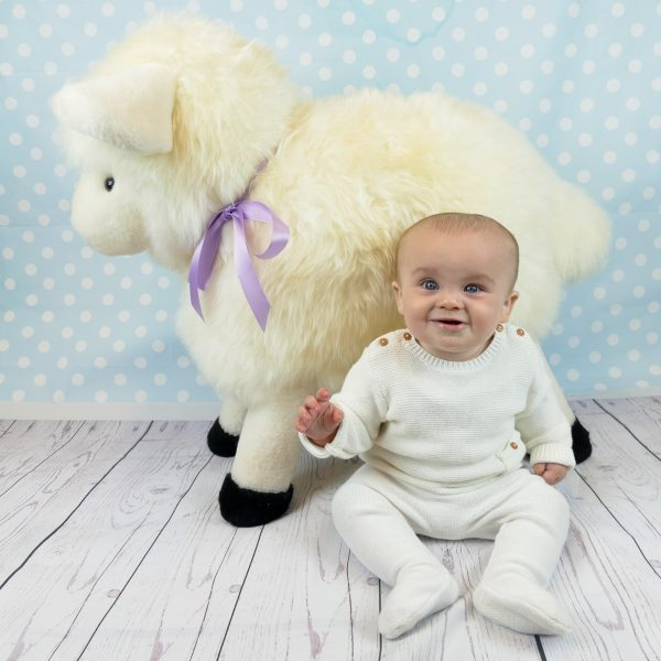 Sheepskin Sheep Footstool for Kids