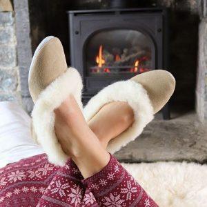 Sheepland Sheepskin Handmade British Charlotte Slippers