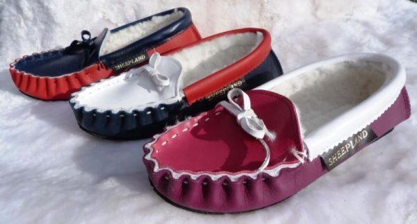 Sheepland Handmade Personalised English Leather And Sheepskin Slippers