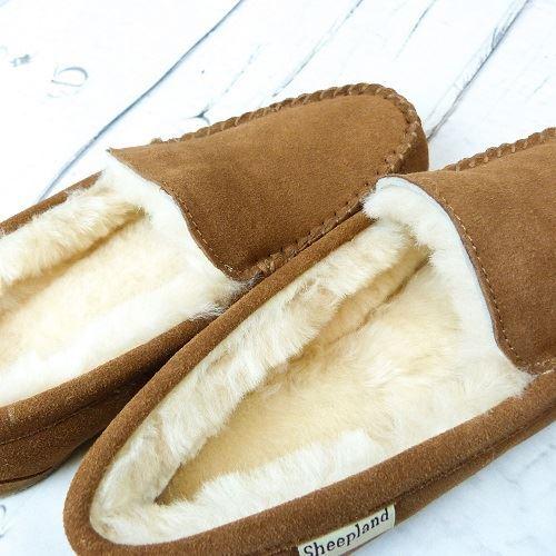 Ashley Unisex Sheepskin Slippers with ivory sheepskin