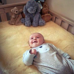 Baby Sheepskin Crib Topper