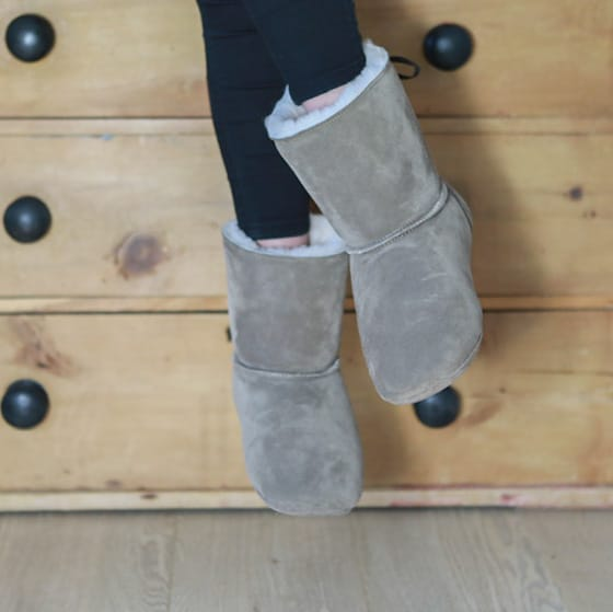 Suitable for all, warm and toasty slipper boots. Sheepland, the home of Natural sheepskin