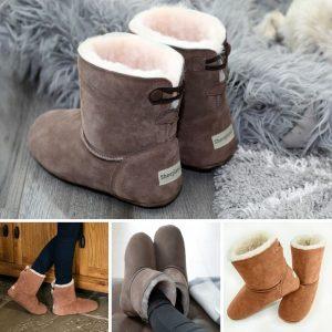 Our Sheepskin slipper boots, the natural alternative
