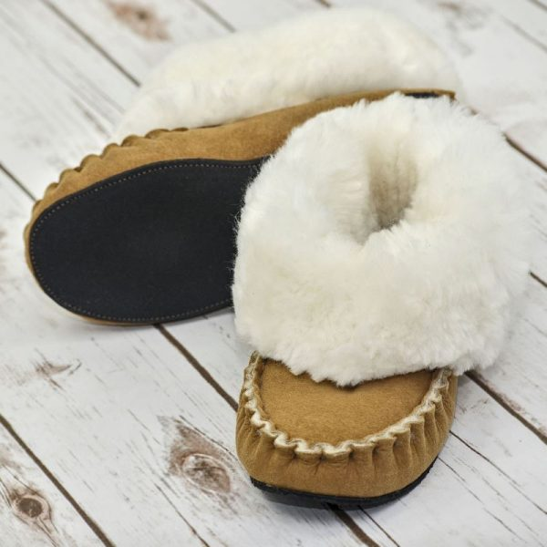 Handmade in Somerset UK. These Sheepskin slippers are soft and wonderful to wear. They cuddle your feet!
