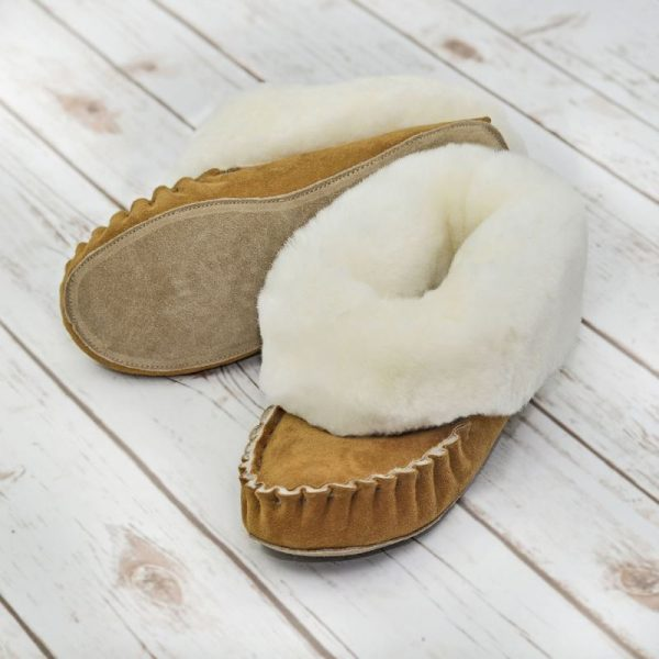 Handmade in Somerset UK. These Sheepskin slippers are soft and wonderful