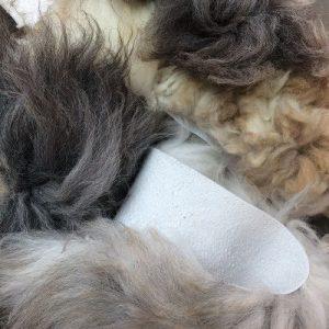 Sheepland organic long fur offcut pieces
