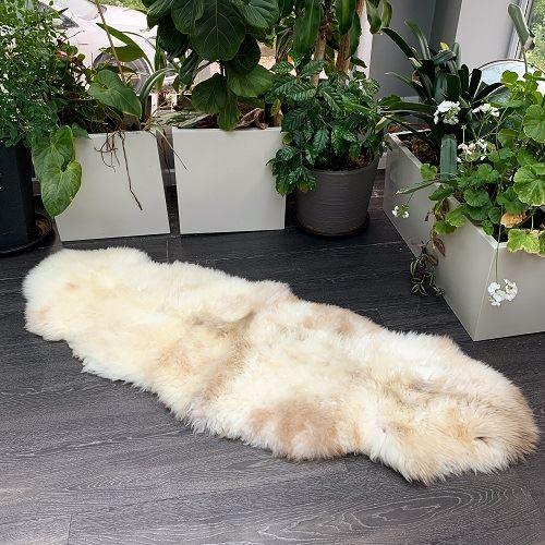 Sheepskin organic double rug N5