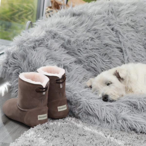 Designed by Sheepland - Luxury for toes, and feet and ankles.....pure sheepskin, can't beat it!