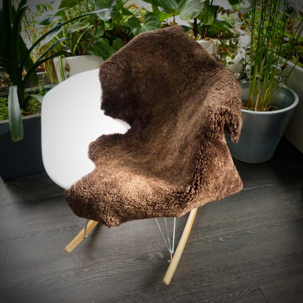 Sheepskin Shearling on rocking chair