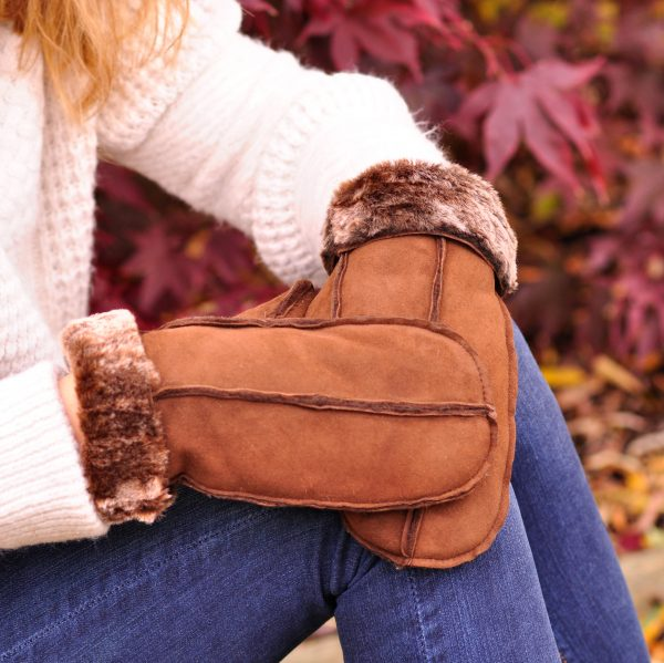 british Sheepskin Handmade Mittens from Somerset