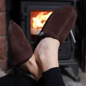 New Style – Unisex Sheepskin Chocolate Mules