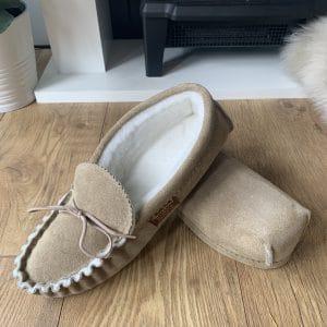 Handmade Sahara Sheepskin Moccasins